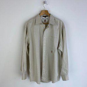 TOMMY HILFIGER Light Cream 100% Cotton Shirt